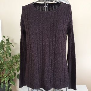 American Eagle Outfitters dark purple sweater